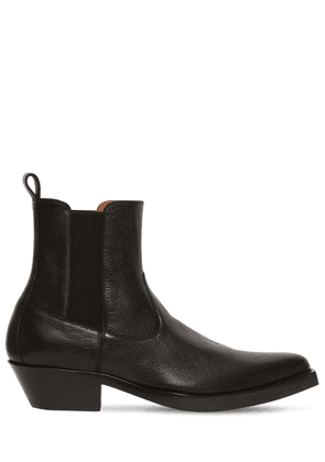 40mm Leather Western Boots
