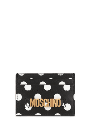 Dot Printed Leather Card Holder