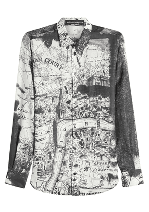 Alexander McQueen Printed Shirt with Cotton and Silk