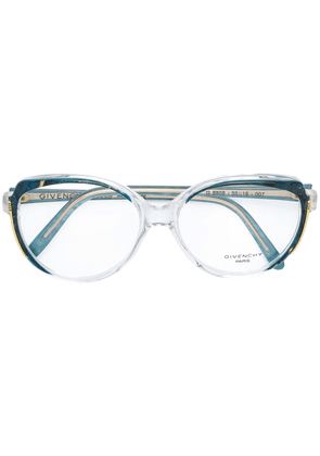 Balenciaga Vintage marbled glasses - Blue