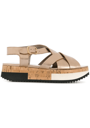 Agl flat sole sandals - Metallic