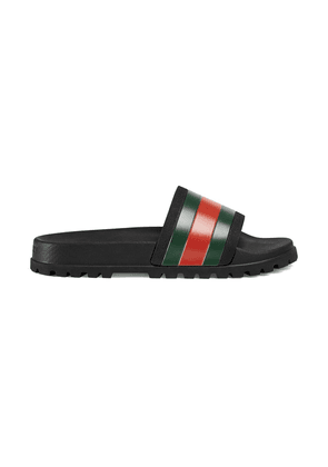 Gucci black Pursuit web slides
