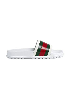 Gucci Web slide sandal - White