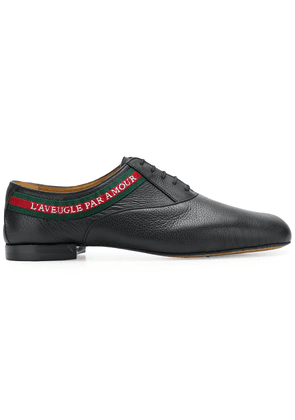 Gucci L'Aveugle Par Amour laced-up shoes - Black