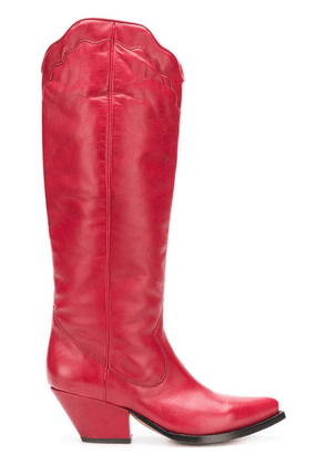 Buttero Elise western boots - Red