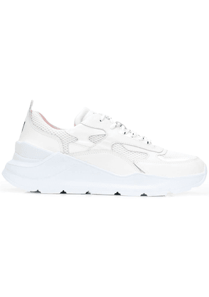 D.A.T.E. panelled lace-up sneakers - White