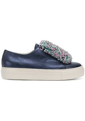 Agl beaded front platform sneakers - Blue