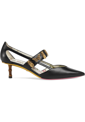 056df1fd826 Gucci insect studded strap pumps - Black