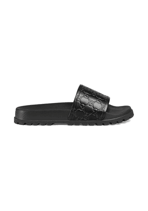 Gucci Gucci Signature slide sandal - Black