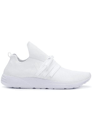 Arkk knit style low top sneakers - White