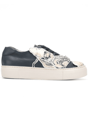 Agl floral patched sneakers - Blue