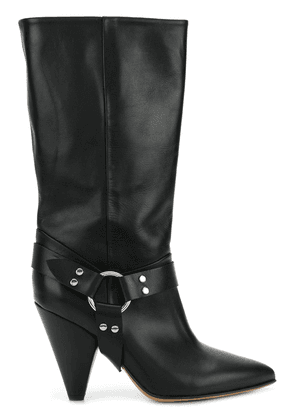 Buttero high ankle boots with ring detail - Black