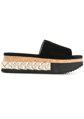 Agl braided platform slippers - Black
