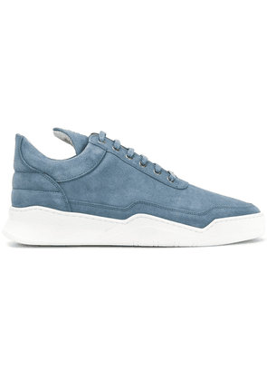 Filling Pieces quilted lace-up sneakers - Blue