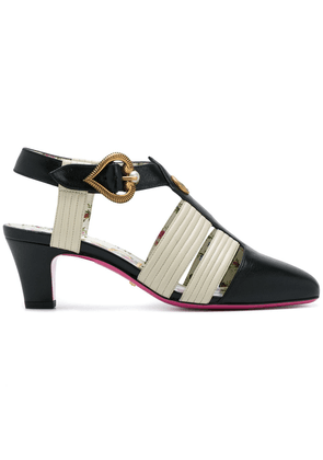 7e4f17608fc6 Gucci Marmont 110 chunky heel leather sandals | Black | MILANSTYLE.COM