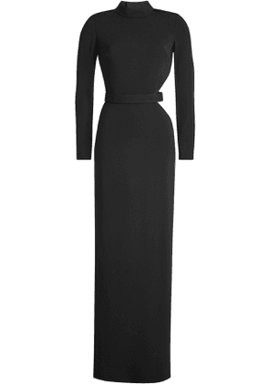 Brandon Maxwell Long Sleeved Gown with Cut-Out Detail