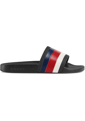 Gucci Rubber slide sandals - Black