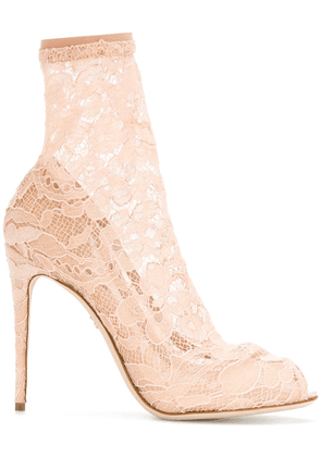 Dolce & Gabbana lace ankle boots - Neutrals