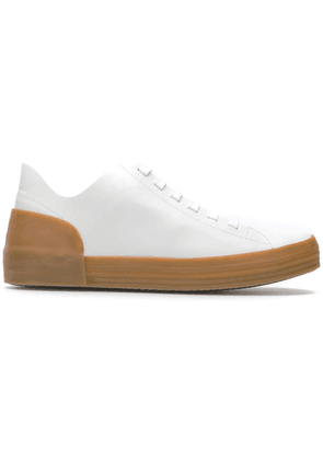 Del Carlo platform lace-up sneakers - White