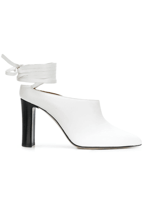Atp Atelier lace-up ankle mules - White