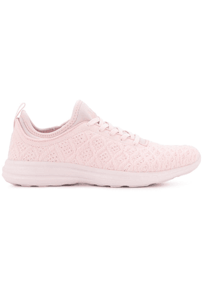 Apl textured lace-up sneakers - Pink