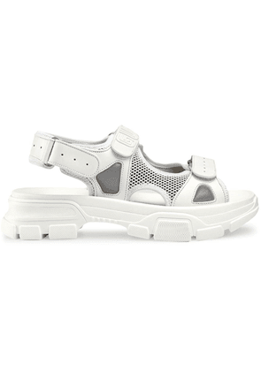 Gucci Leather and mesh sandals - White