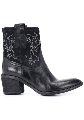 Fauzian Jeunesse embroidered ankle boots - Blue