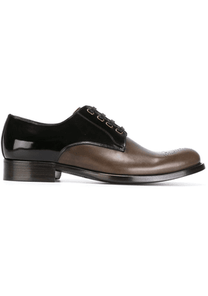 Dolce & Gabbana two-tone Derby shoes - Brown