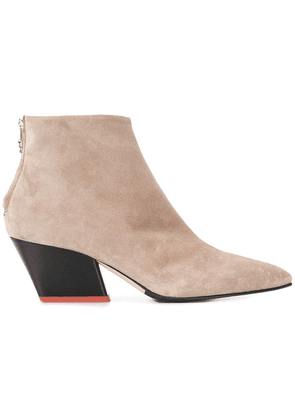 Aeyde pointed toe ankle boots - Neutrals