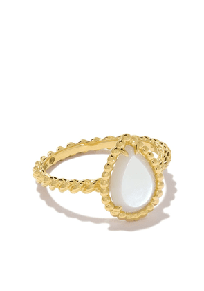 Boucheron 18kt yellow gold Serpent Bohème mother-of-pearl ring - Yg