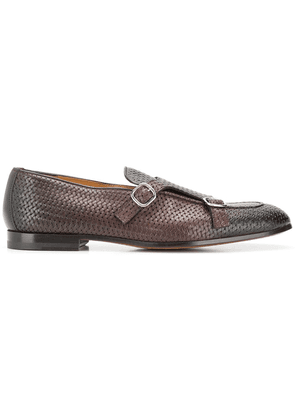 Doucal's woven monk shoes - Brown