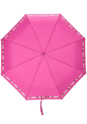 Moschino logo print umbrella - Pink