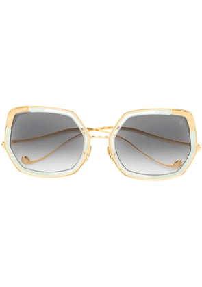 Anna Karin Karlsson Blumoon oversized sunglasses - Gold