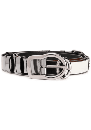 Dorothee Schumacher skinny layered belt - Black