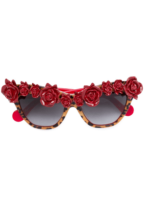 Anna Karin Karlsson rose detail sunglasses - Red