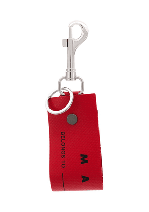 Marni luggage label tag keyring - Red