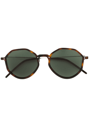 Delirious round-frame tinted sunglasses - Brown