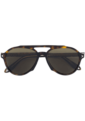 Givenchy Eyewear rounded aviator sunglasses - Brown