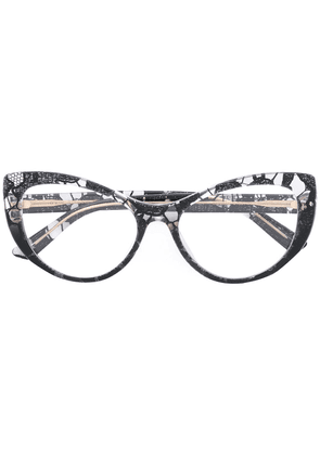 Dolce & Gabbana Eyewear lace cat-eye glasses - Black
