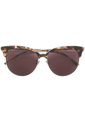 Bottega Veneta Eyewear round tortoiseshell sunglasses - Brown