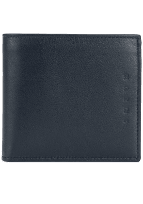 Marni embossed bi-fold wallet - Blue