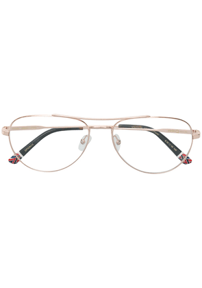 Etnia Barcelona aviator shaped glasses - Metallic