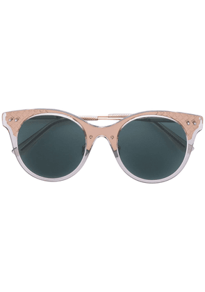 Bottega Veneta Eyewear translucent cat eye sunglasses - Metallic