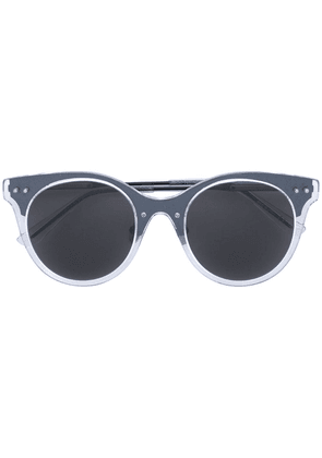Bottega Veneta Eyewear translucent circle sunglasses - Black