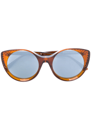 Bottega Veneta Eyewear cat eye sunglasses - Brown