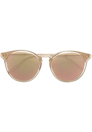 Bottega Veneta Eyewear engraved sunglasses - Metallic