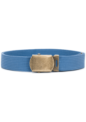 Marni webbed snap clip belt - Blue