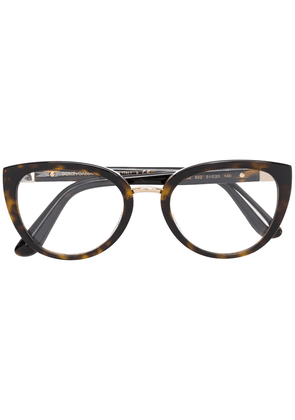 Dolce & Gabbana Eyewear oval frame glasses - Brown