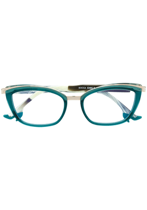 Face À Face classic cat-eye glasses - Blue