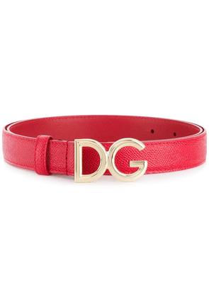 Dolce & Gabbana logo buckle belt - Red